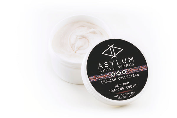 Asylum English Collection Shaving Cream -Bay Rum (170g)