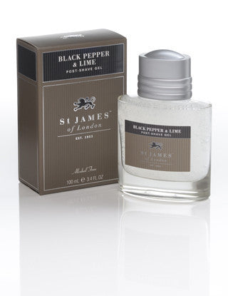 St James of London Post Shave Gel -Black Pepper & Lime