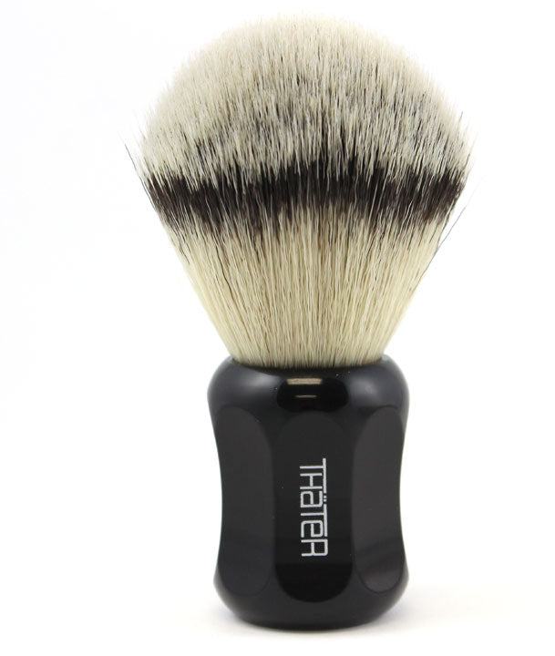 H.L. Thater Synthetic Badger Shaving Brush -Black