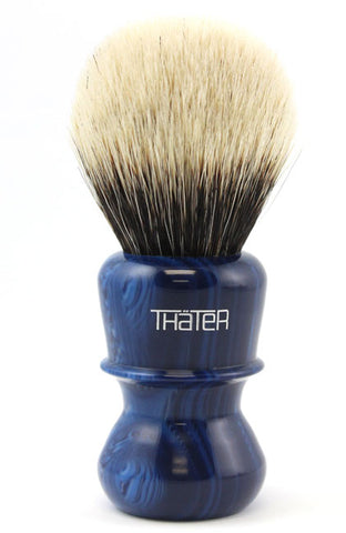 H.L. Thater Two Band Badger -Blue Speck 82 Style (Rounded Knot)