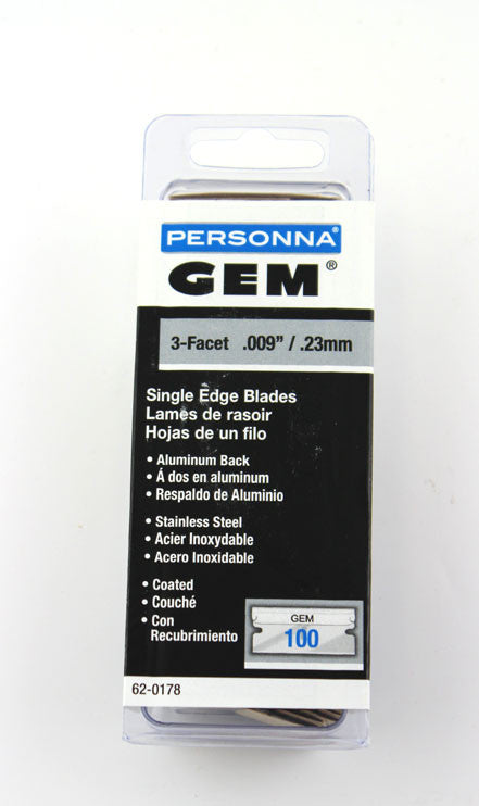 Personna GEM Coated and Wrapped Single Edge Blades (Pack of 100)