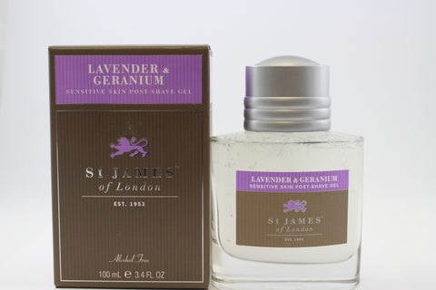 St James of London Post Shave Gel-Lavender & Geranium
