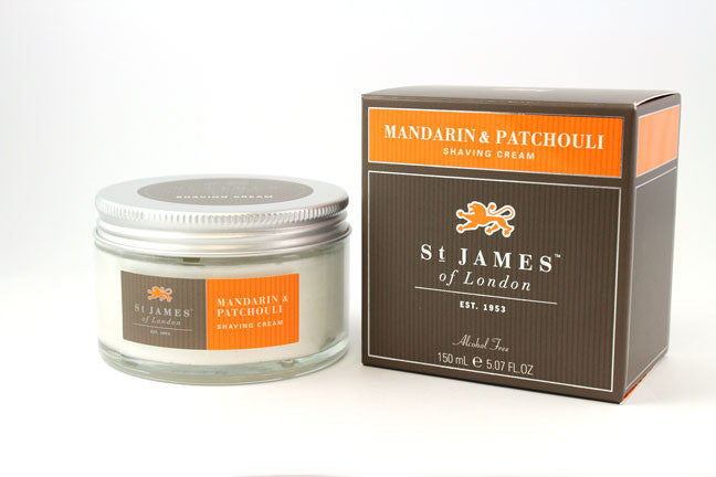 St. James of London Shaving Cream -Mandarin & Patchouli (150g)