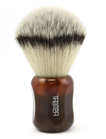 H.L. Thater Synthetic Badger Shaving Brush -Maroon