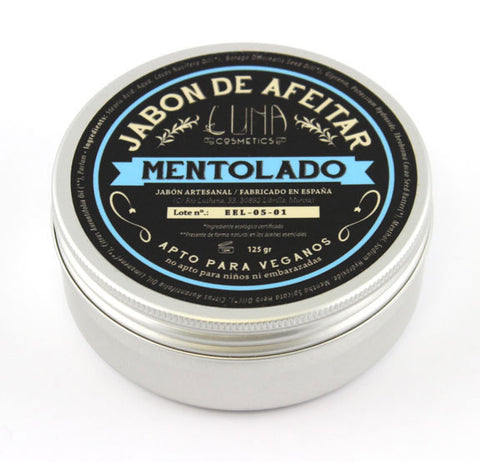 Luna Cosmetics Hand Crafted Shaving Soap -Mentolado (125g)