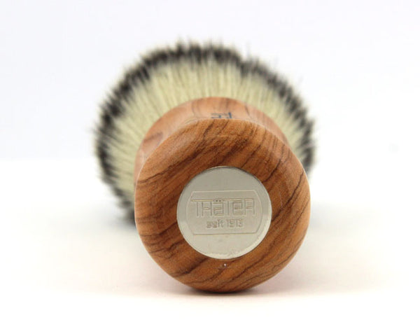 H.L. Thater Synthetic Badger Shaving Brush -Wild Olive Wood