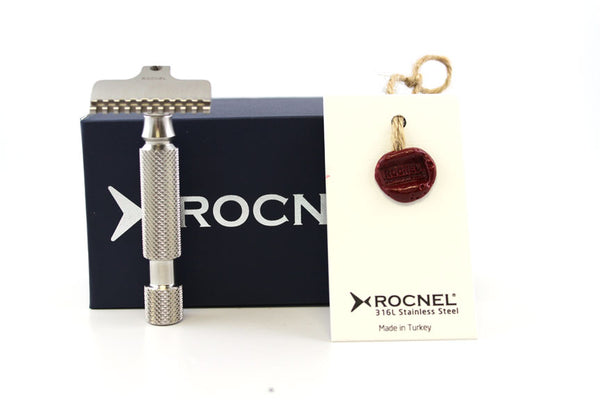 Rocnel SE-G Stainless Steel Gem Style Razor in Matte Finish