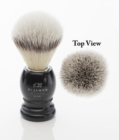St. James of London Hand Tied Synthetic Fiber Shaving Brush -Ash