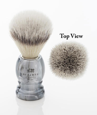 St. James of London Hand Tied Synthetic Fiber Shaving Brush -Castlerock