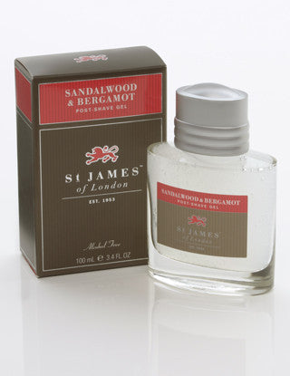 St James of London Post Shave Gel -Sandalwood & Bergamot