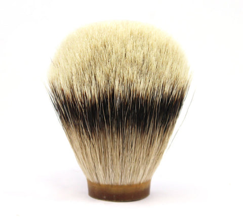Oumo High Mountain White Silvertip Badger Knot (Silk) -26mm