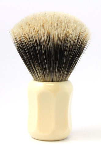 Heinrich L. Thater 4125 Ivory Shaving Brush with Fan Knot in Two Band Super