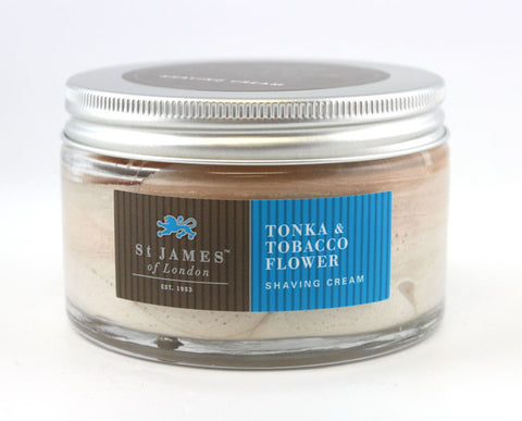 St. James of London Shaving Cream -Tonka & Tobacco Flower (150g)