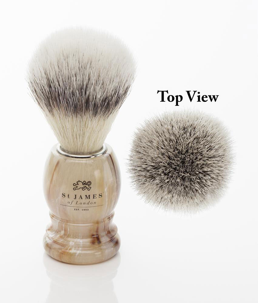 St. James of London Hand Tied Synthetic Fiber Shaving Brush -Tawny