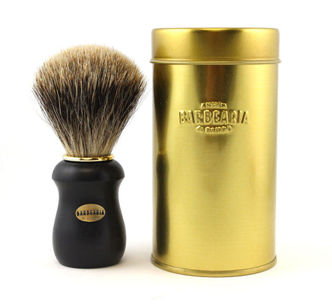 Antiga Barbearia de Bairro Black & Gold Finest Badger Shaving Brush