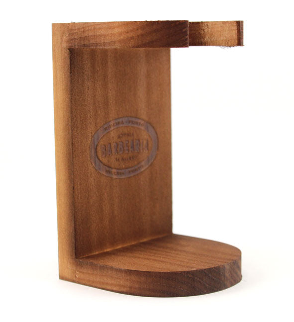 Antiga Barbearia Wood Shaving Brush Stand