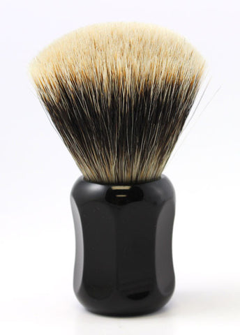 Heinrich L. Thater 4125 Black Shaving Brush with Fan Knot in Two-Band Super