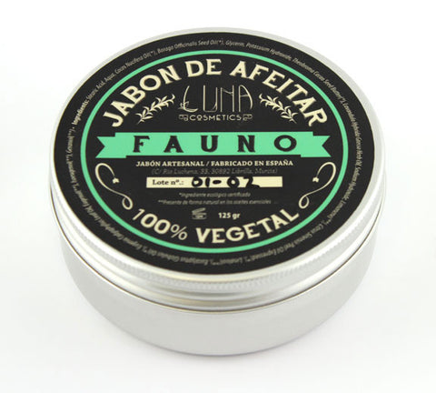 Luna Cosmetics Hand Crafted Shaving Soap -Fauno (125g)