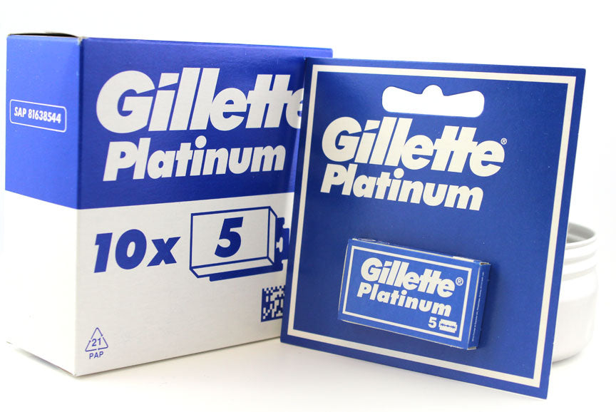 Gillette Platinum DE Blades -Box of 50 Blades