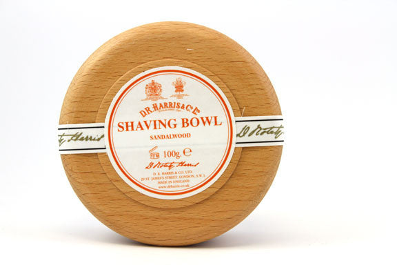 D.R. Harris Sandalwood Shave Soap in Wood Bowl