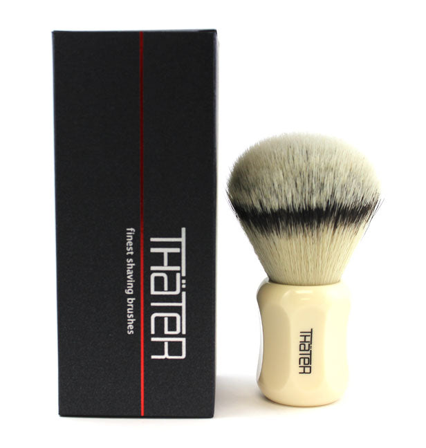 H.L. Thater Synthetic Badger Shaving Brush -Ivory