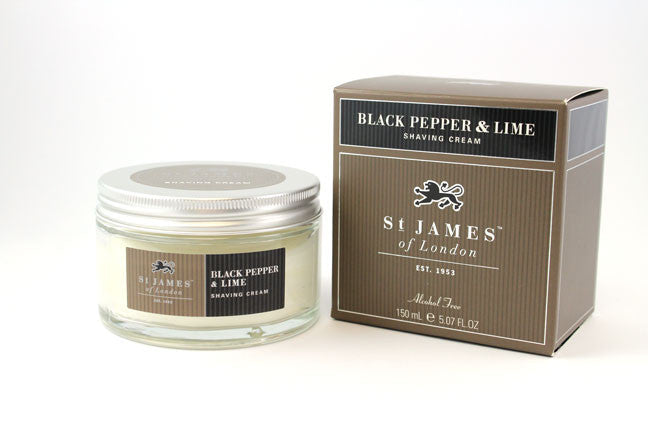 St. James of London Shaving Cream -Black Pepper & Persian Lime