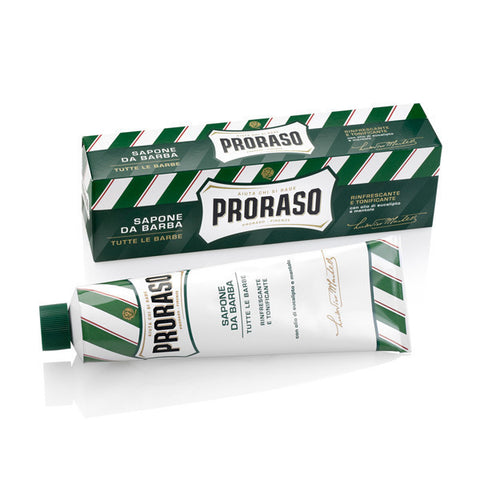 Proraso New Formula Green Shaving Cream in Travel Tube