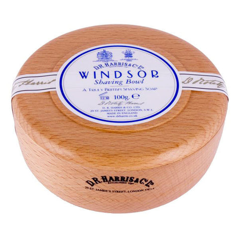D.R. Harris Windsor Shaving Soap in Wood Bowl