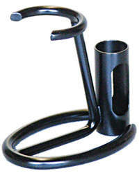 Omega 206NE Black Metal Razor & Brush Stand