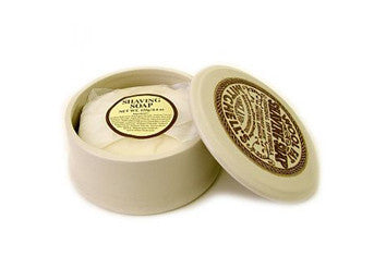 Mitchell's Wool Fat Shaving Soap in Ceramic Dish