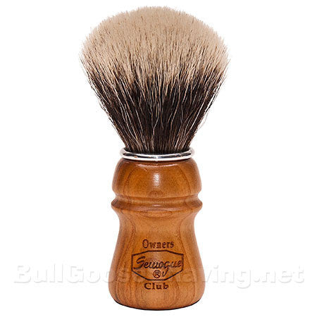 Semogue Owners Club Shaving Brush - Super Badger with Cherry Wood Handle