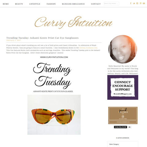 Trending Tuesday: Ashanti Kente Print Cat Eye Sunglasses