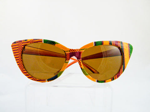 Ashanti Kente Print Cat Eye Sunglasses