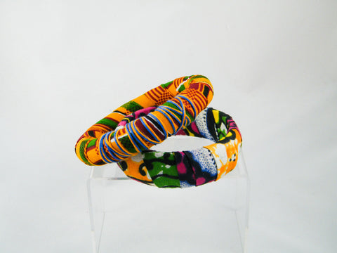 Ashanti/Sanaa Ankara Print Two Bangle Stack