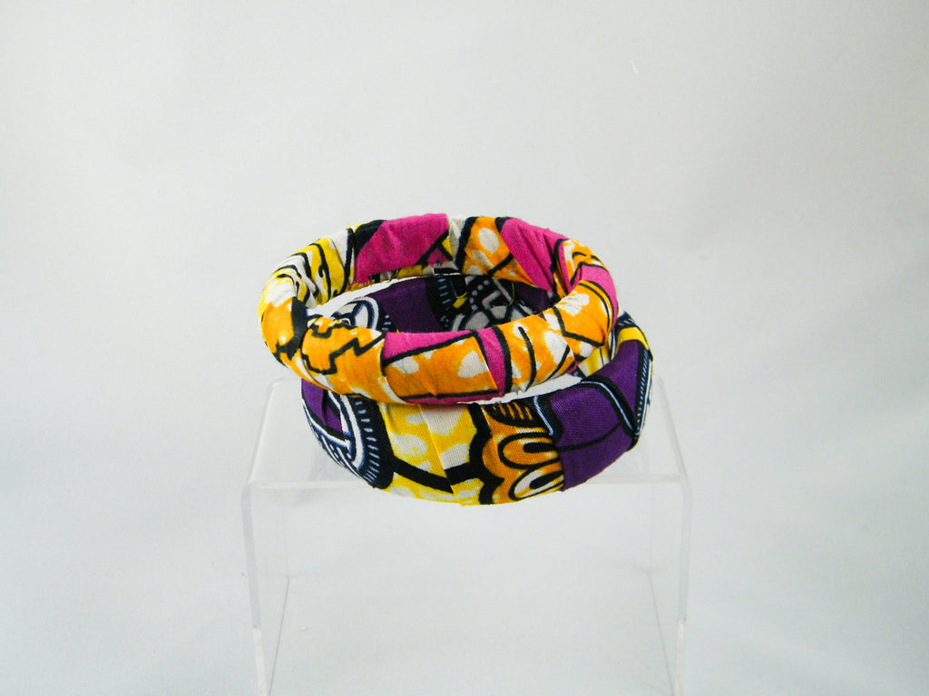 Ayo/Lesedi Ankara Print Two Bangle Stack
