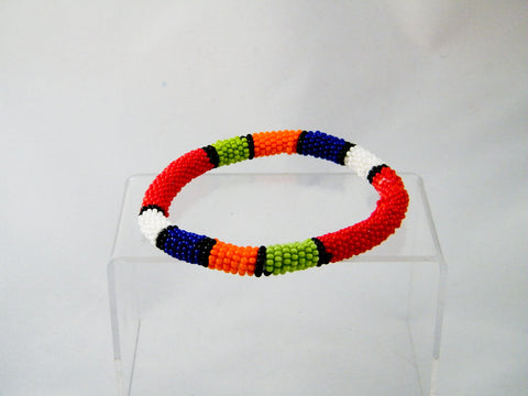 Cape Town - Red Beaded Bangle Bracelet