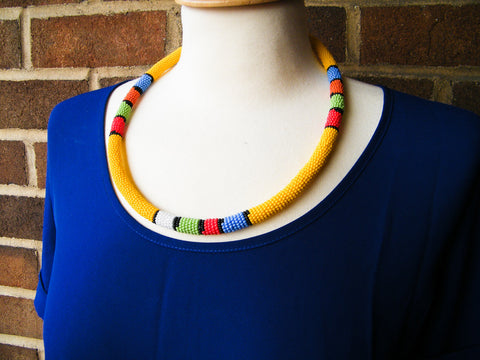 Cape Town - Yellow Beaded Necklace
