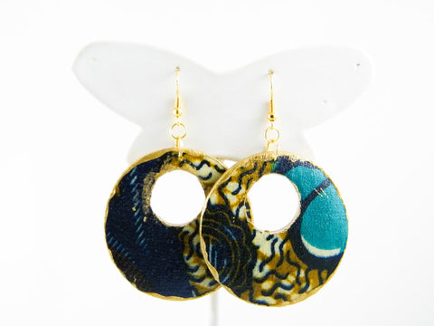 Iminathi Ankara Graffiti Hoop Dangle Earrings