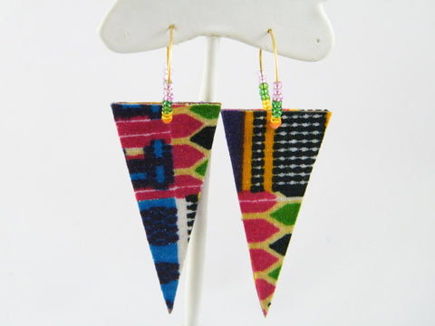 Jubilation Hoop & Triangle Dangle Earrings