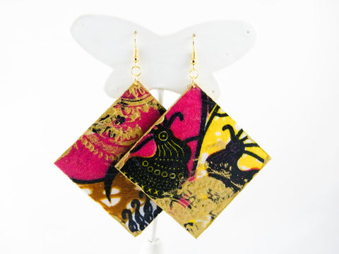 Fre Ankara Graffiti Diamond Earrings