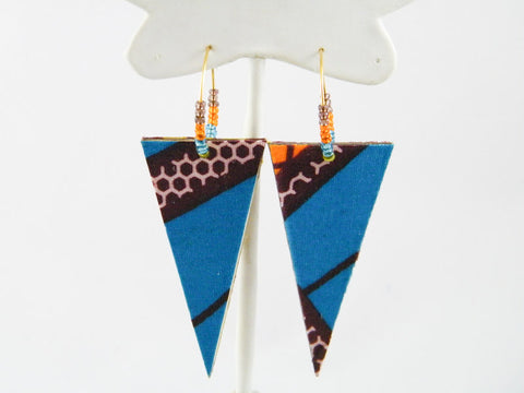 Zola Hoop & Triangle Dangle Earrings