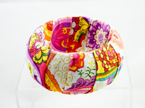 Holi Floral Thick Bangle Bracelet