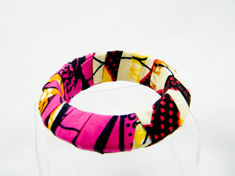 Ayo/Keyara Ankara Half & Half Pointed Bangle Bracelet