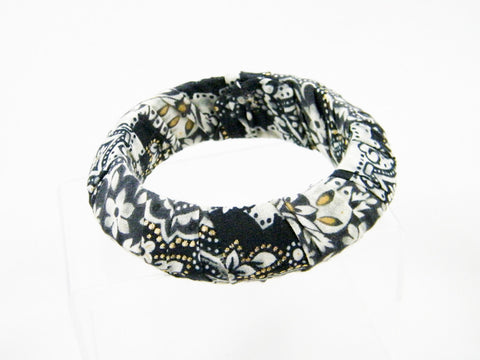 Twilight In Turkey Fabric Pointed Bangle Bracelet