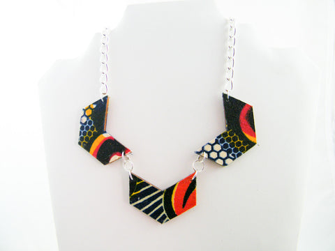Ayana/Honey 33% Combo Chevron Necklace