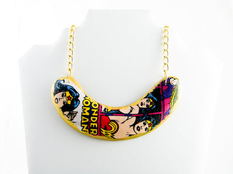 Diana Wonder Woman Boomerang Bib Necklace