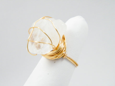 Ishtar Quartz Wire Wrapped Ring