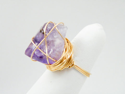 Oya Amethyst Wire Wrapped Ring