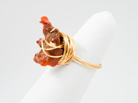 Pele Fire Opal Wire Wrapped Ring