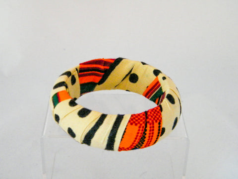 Fatou Kente Print/Mud Cloth Print Medium Bangle Bracelet